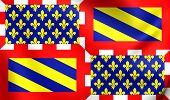 Постер, плакат: Ancient Flag Of Burgundy France