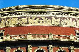 foto of kensington  - The frieze of the Royal Albert Hall - JPG