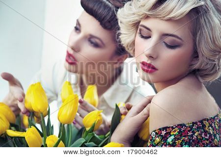 Two gorgeous flower nymphs