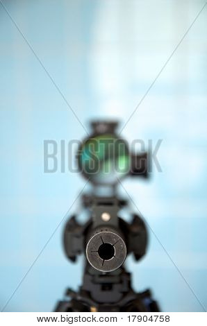 Sniper rifle com rifle scope