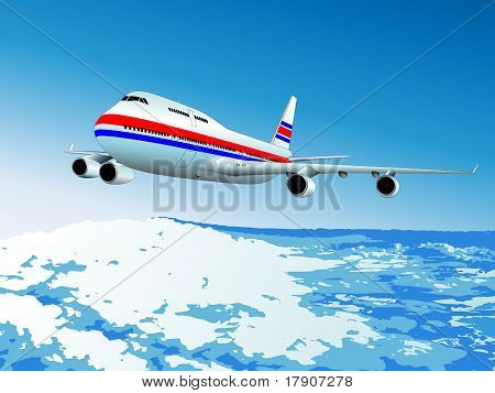 Vector illustration of the airliner