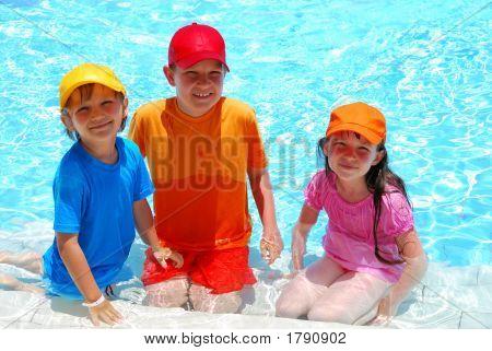 Three Children In Water