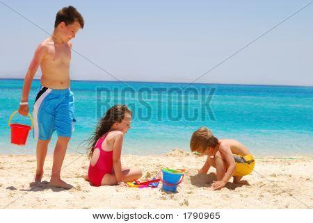 Children On Desert Island