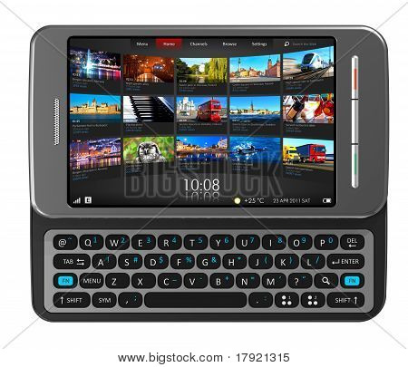 Lado slider touchscreen smartphone