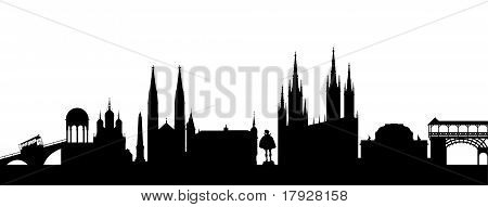 Wiesbaden Silhouette black abstract