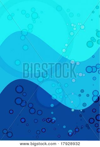 Underwater background - Fully editable vector image