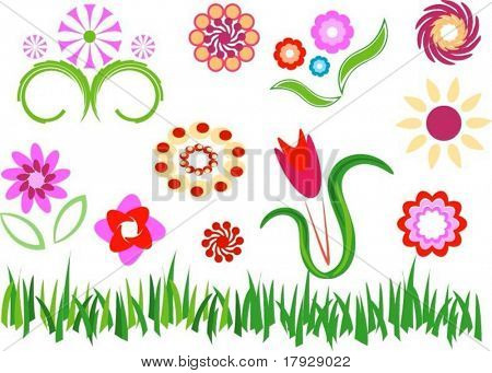 Flowers - Fully editable vector images