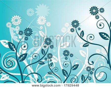 Floral chaos - vector