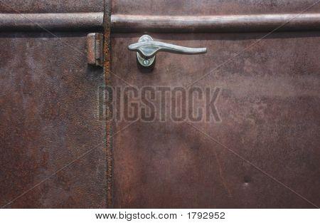Rusted Antique Truck Door
