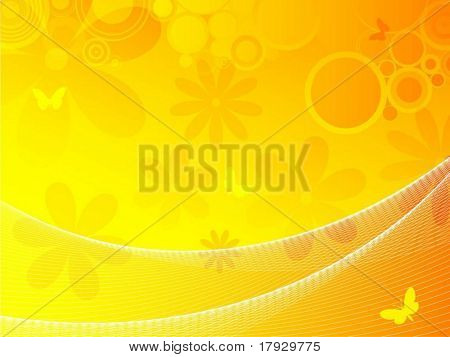 Summer background - vector