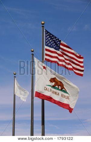 Americano e sinalizadores de Califórnia