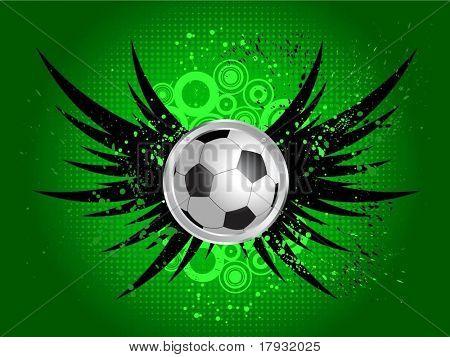 Grunge-Fußball-Hintergrund