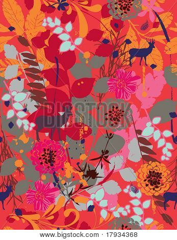 Vector Vintage Floral Pattern (seamless)