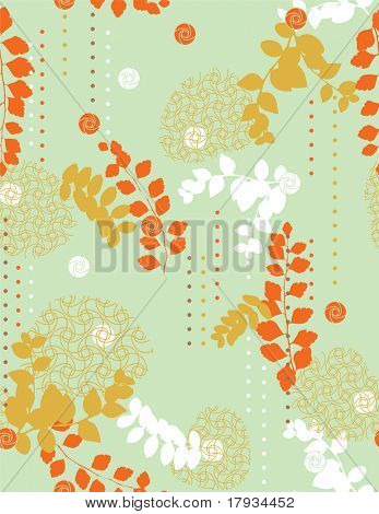 vector Geometrical and Leaf Pattern (seamless)