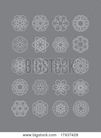 Flower and Snowflakes. No expanded lines.