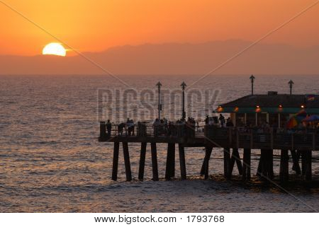 Sun Set From The Pier