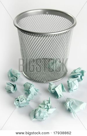 Paper trash isolated over white background