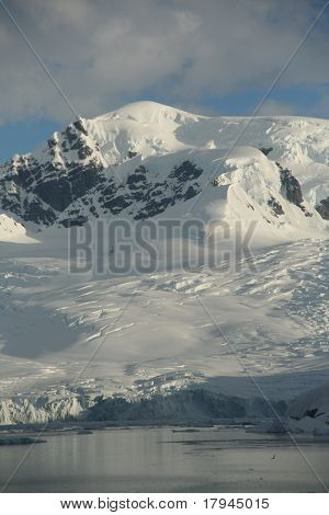 Polar Twilight: Glaciated Mountains