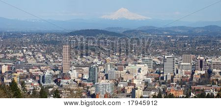 Portland Oregon Panorama.