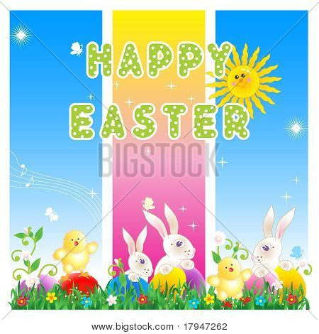 Happy Easter card or poster background