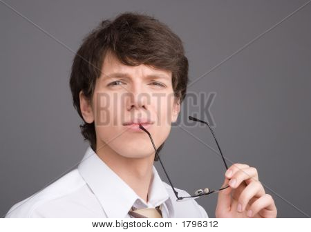 Young Businessman With Brief Case