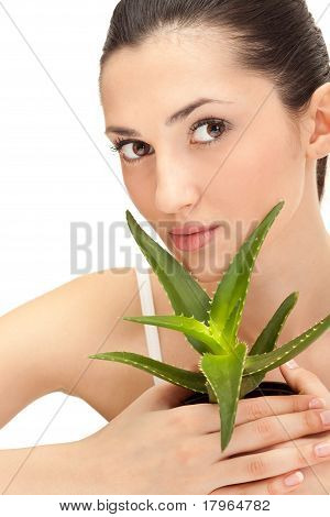 Woman With Aloe
