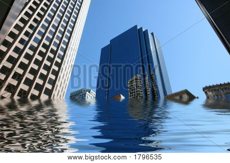 Flooded Skyscrapers