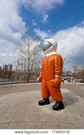 Cosmonaut In An Orange Suit