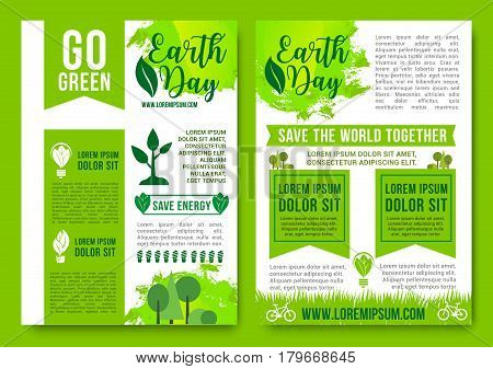 Save Earth Go Green Vector Posters Vector & Photo | Bigstock