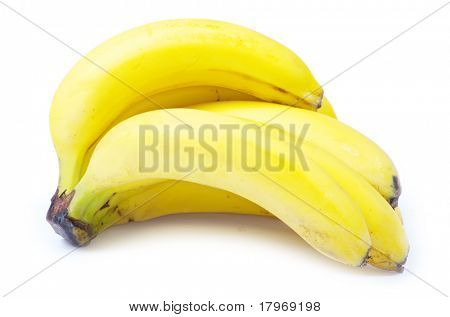 banana fruits isolated on white background
