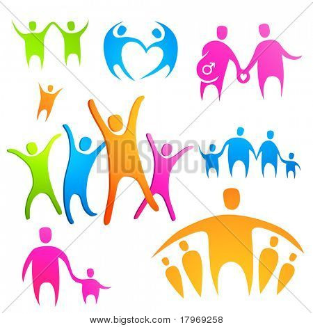 Family and Friends. Vector illustration