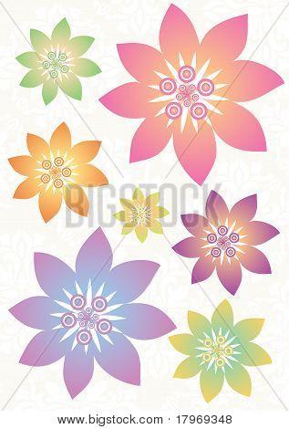 Flower pattern series