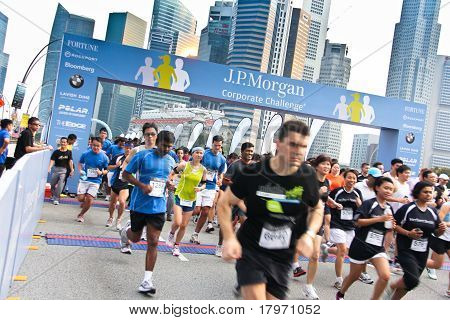 Singapore JP Morgan Corporate Challenge 2011