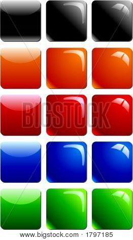 Glossy Buttons Square.Eps