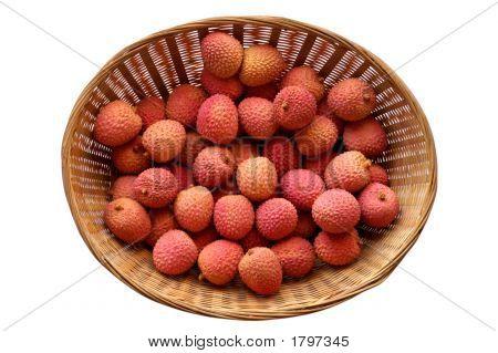 Litchi Lichee Lychee - Litchi Chinensis In Basket (5)