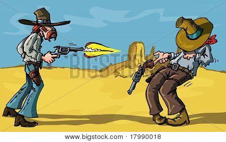 Cartoon Cowboy Shootout