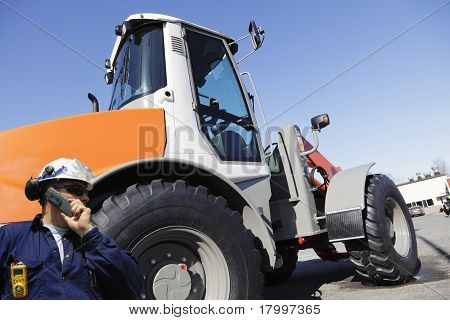 driver and forklift, jcb