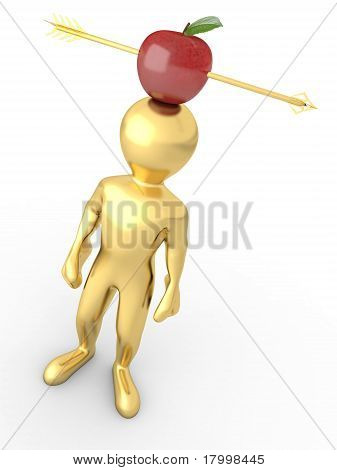Men And Arrow Through Apple