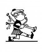 picture of bagpiper  - Marching Bagpiper  - JPG