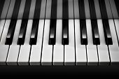 foto of chopin  - Ebony and Ivory keys of a piano shot in black and white - JPG