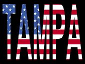 Tampa With American Flag poster