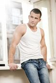 stock photo of men underwear  - Handsome well - JPG