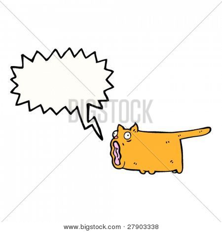 crazy shrieking cat cartoon
