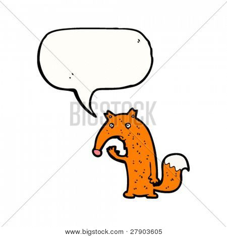 confused fox cartoon