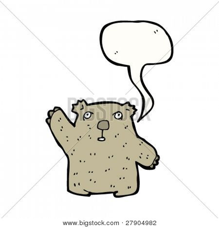 waving wombat cartoon character