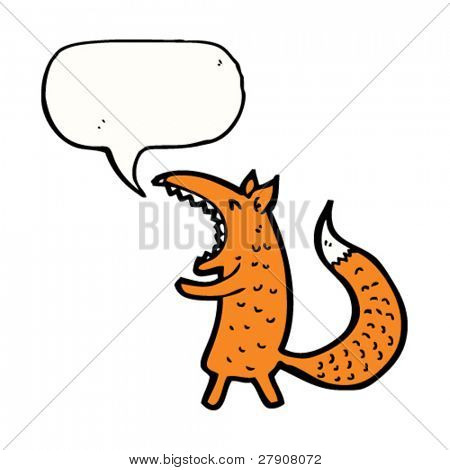 yawning fox cartoon