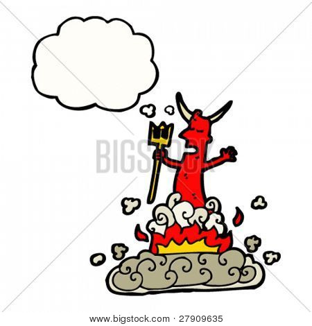 summoned devil cartoon character