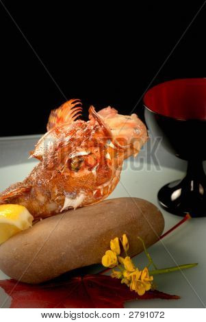 Deep Fried Asian Lion Fish Served With Lemon