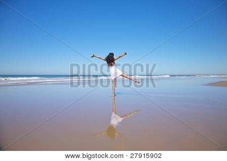 Dancing Woman At Castilnovo Beach