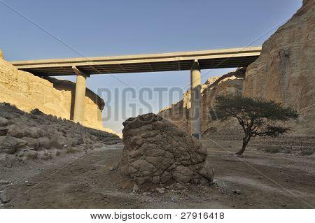 Viaduct In Judea Desert.